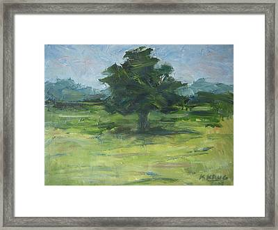 Standing Tree Framed Print by Ken Krug
