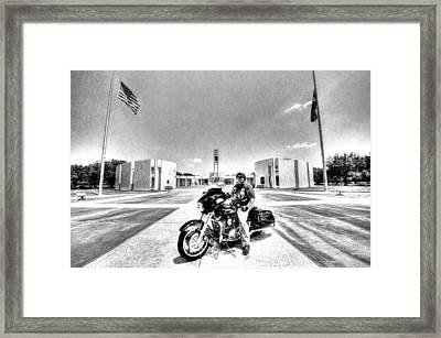 Standing Watch At The Houston National Cemetery Framed Print
