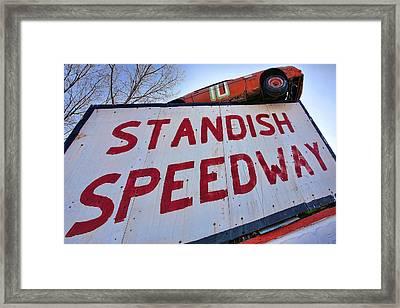 Standish Speedway Framed Print by Gordon Dean II