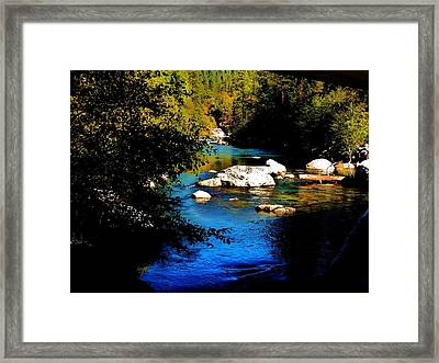 Stanislaus River Framed Print by Helen Carson