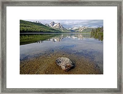 Stanley Lake Framed Print by Elijah Weber