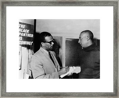 Stanley S. Scott Interviewing Stokely Framed Print by Everett