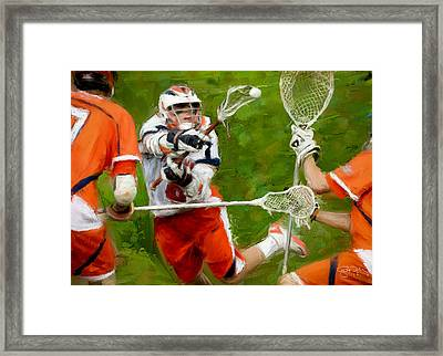 Stanwick Lacrosse 2 Framed Print by Scott Melby