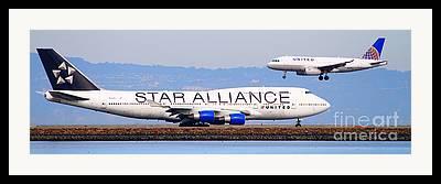 Star Alliance Airlines Framed Prints