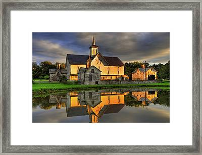 Framed Print featuring the photograph Star Barn by Dan Myers