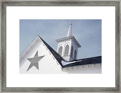 Star Barn Roof Framed Print