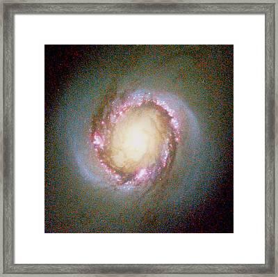 Star Birth In Galaxy Ngc 4314 Framed Print by Nasaesastscig.f.benedict, Et Al, U.texas