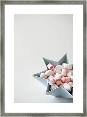 Star Bowl With Mint Candy Framed Print by Elin Enger