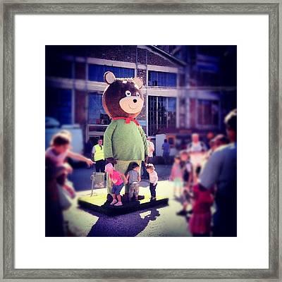 #star, #celebrity, #giant, #teddy, #tv Framed Print