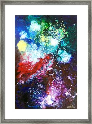 Star Clusters Framed Print by Sally Trace
