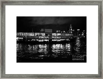 Star Ferry Tsim Sha Tsui Terminal Kowloon Hong Kong Hksar China Framed Print