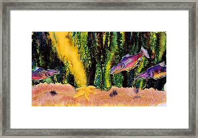 Star Fish Framed Print by Carolyn Doe