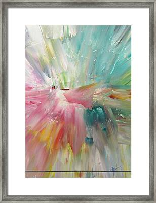 Framed Print featuring the painting Star by Kathy Sheeran