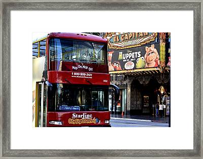 Star Line Express Framed Print by Fraida Gutovich