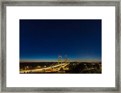 Star Night Over The Narrows Framed Print by Ken Stanback