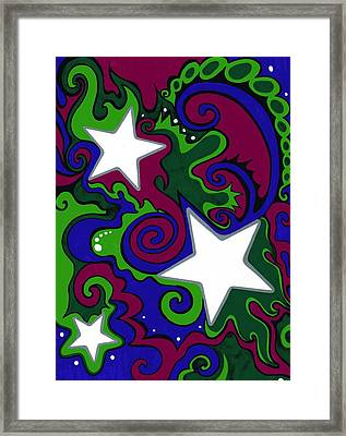 Star Slime Framed Print by Mandy Shupp