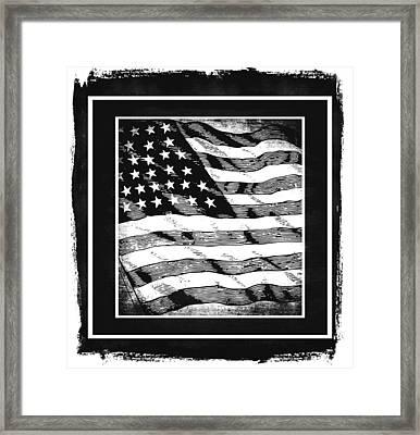 Star Spangled Banner Bw Framed Print