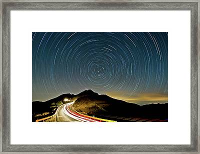 Star Trails Framed Print by Higrace Photo