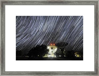 Star Trails Over Parkes Observatory Framed Print