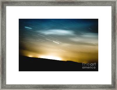 Star Trails Framed Print by Roth Ritter