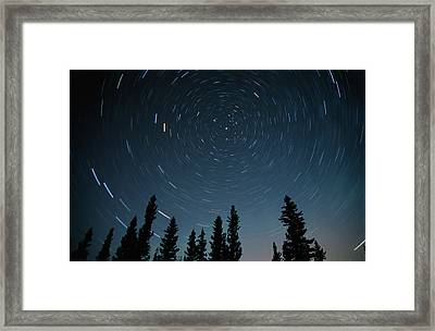 Star Trails, Sandilands Provincial Framed Print by Mike Grandmailson