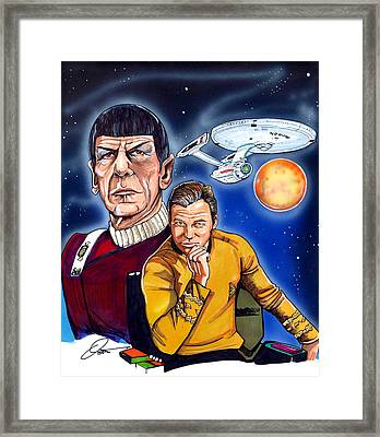 Star Trek Framed Print by Dave Olsen