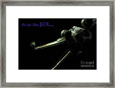 Star Wars Jedi Card Framed Print by Micah May