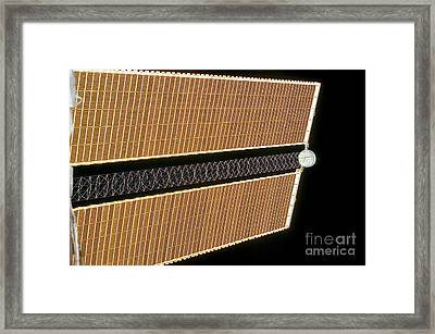 Starboard Solar Array Wing Panel Framed Print by Stocktrek Images