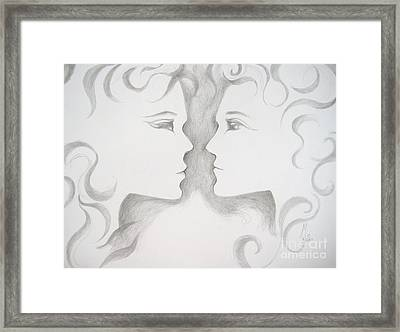 Framed Print featuring the drawing Staredown by Marat Essex