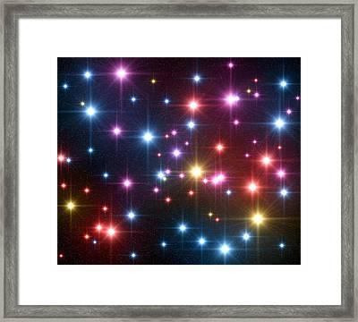Starfield Framed Print by Roger Harris
