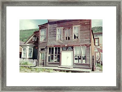 Framed Print featuring the photograph Stark Bros Store by Bonfire Photography