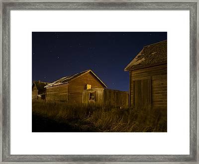 Starlight Cabin Framed Print