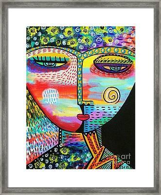 Starlight Goddess Framed Print by Sandra Silberzweig