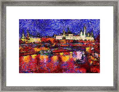 Starry Moscow Framed Print