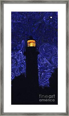 Starry Night Light Framed Print by Linda Mesibov