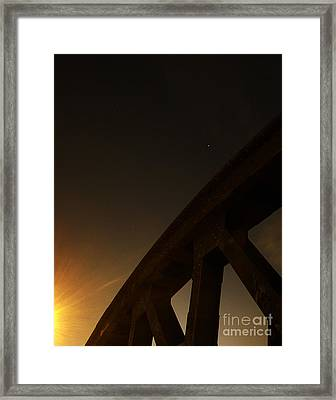 Framed Print featuring the photograph Starry Night On Sunset Bridge by Andy Prendy