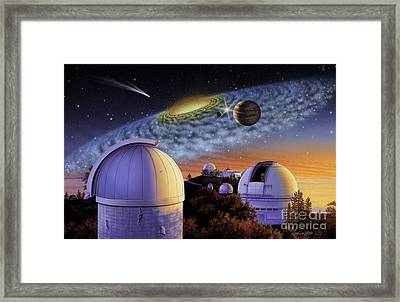 Starry Nights At Lick Framed Print by Lynette Cook