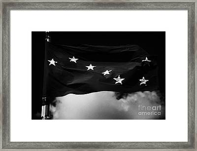 Starry Plough Flag Irish National Liberation Army Inla Ireland Framed Print by Joe Fox