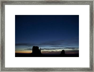 Starry Skies In The West Framed Print