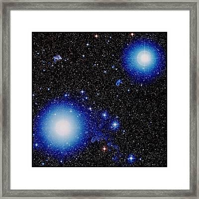 Stars Alnilam & Mintaka In Orion Framed Print by Celestial Image Picture Co.