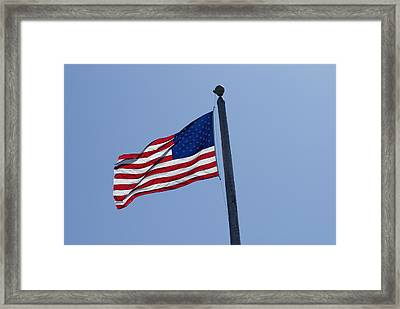 Stars And Stripes Framed Print by Jerry Cahill