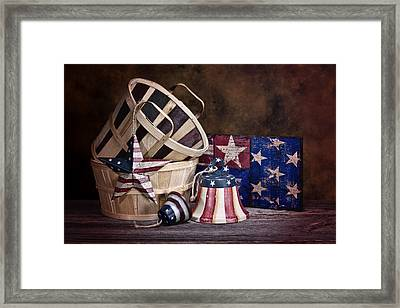 Stars And Stripes Still Life Framed Print by Tom Mc Nemar