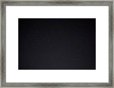 Stars And The Big Dipper On A Clear Framed Print by Taylor S. Kennedy