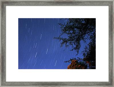 Stars Falling Framed Print by Kay Lovingood