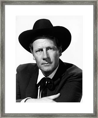 Stars In My Crown, Joel Mccrea, 1950 Framed Print
