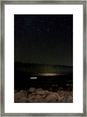 Framed Print featuring the photograph Stars Over Otter Cove by Brent L Ander