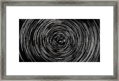 Startrails With Polaris At Center Framed Print by Cristian Mihaila