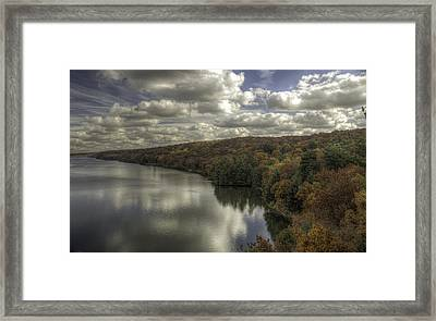 Starved Rock Fall Colors Framed Print by Peter Ciro