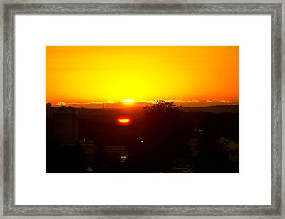 State College Sun Set Framed Print