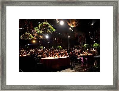 State Dinner In Honor Of President Framed Print